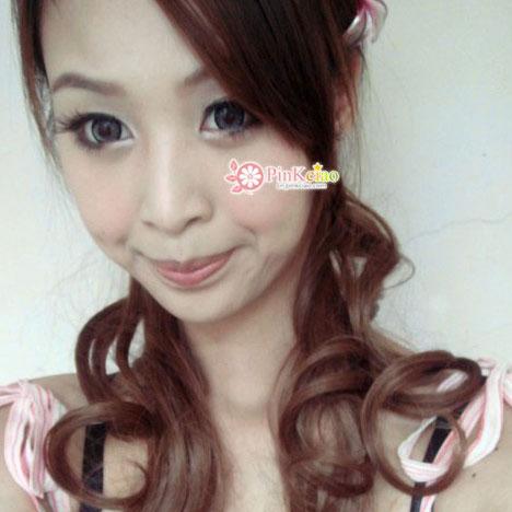 兔儿分享 - 日本杂志大推小恶魔御用长发大卷马尾抽绳式 ♡假发界中的lv♡