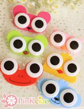 (停产不补货)大眼睛卡通隐形眼镜保养盒