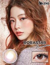 O-Lens Rorastar Brown 3 months (月拋/2片装/需预订3-4天)